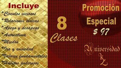 PROMOCIÓN 8 CLASES DE UNIVERSIDAD KL