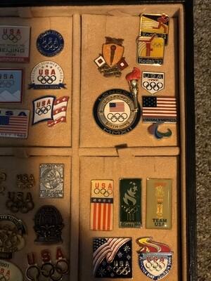 USA Olympics Lapel Pin Collection + Bonus Medal