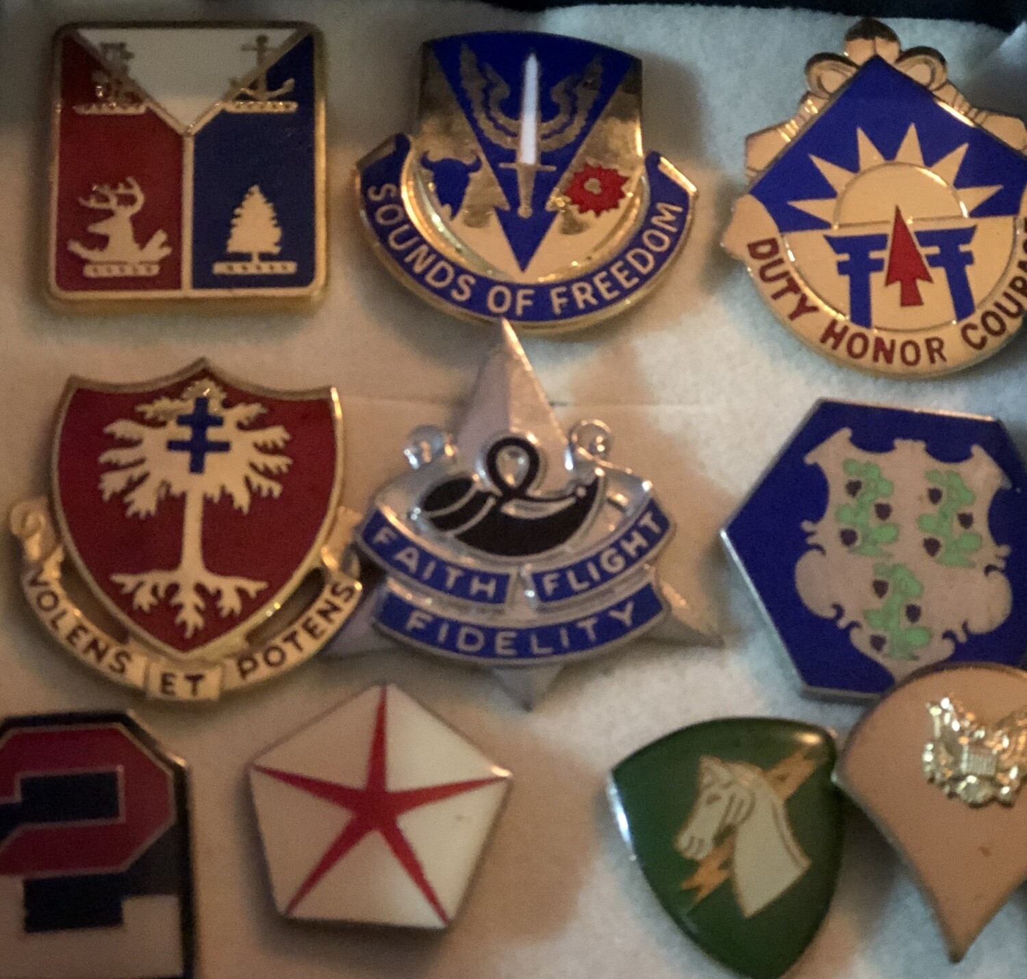 Collection of 19 Military Pins