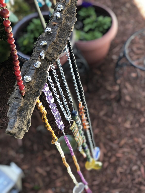 Rainbow Bejeweled Windchimes