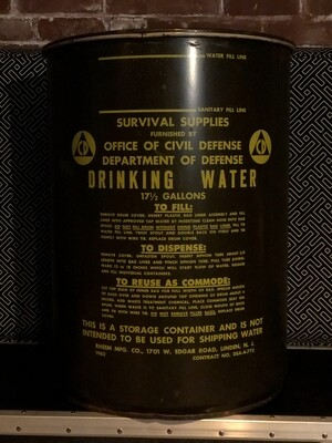 Official Vintage Emergency Water Storage Can/Container