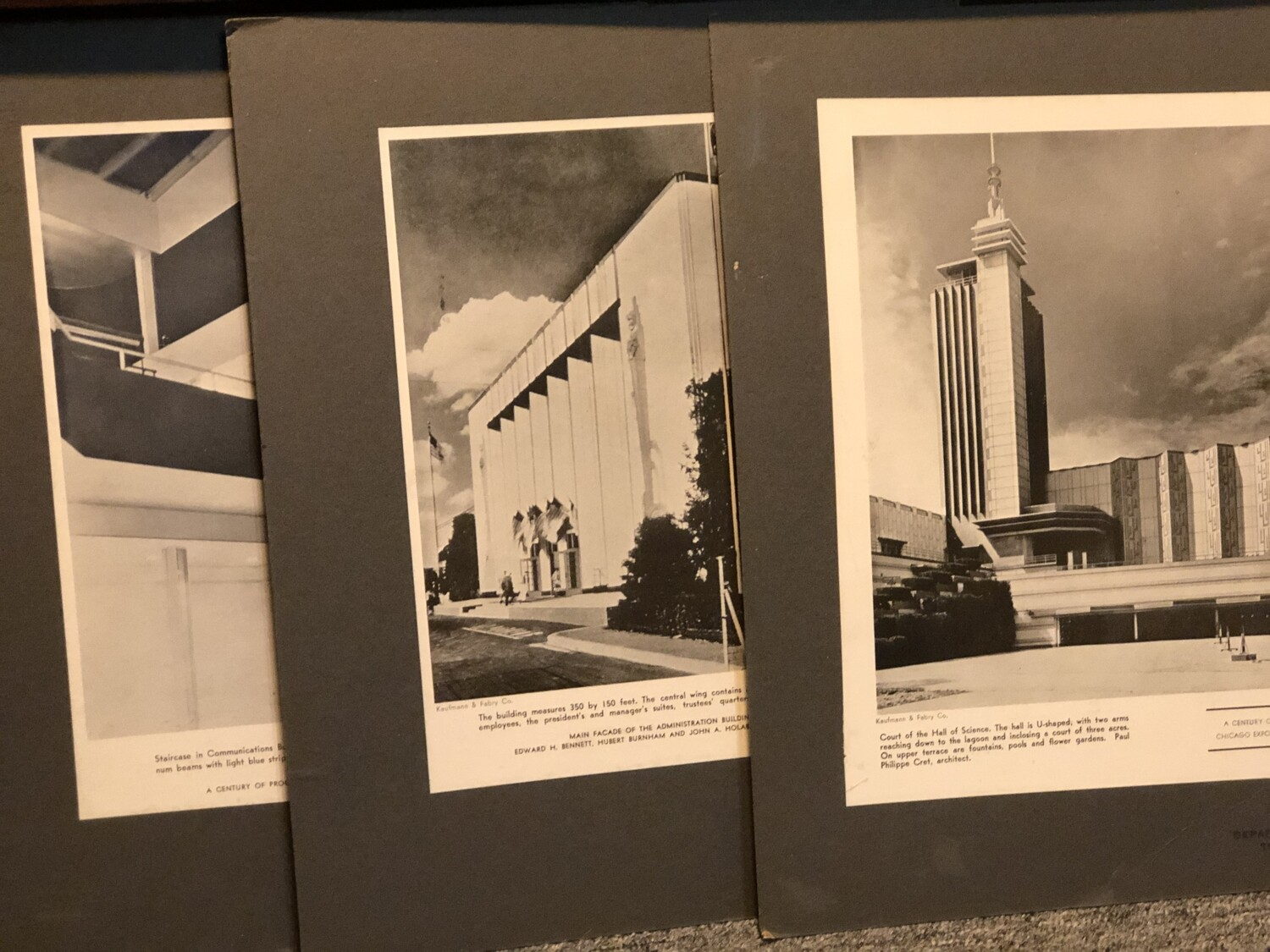 Architectural Beauty Worlds Fair  Matted Images