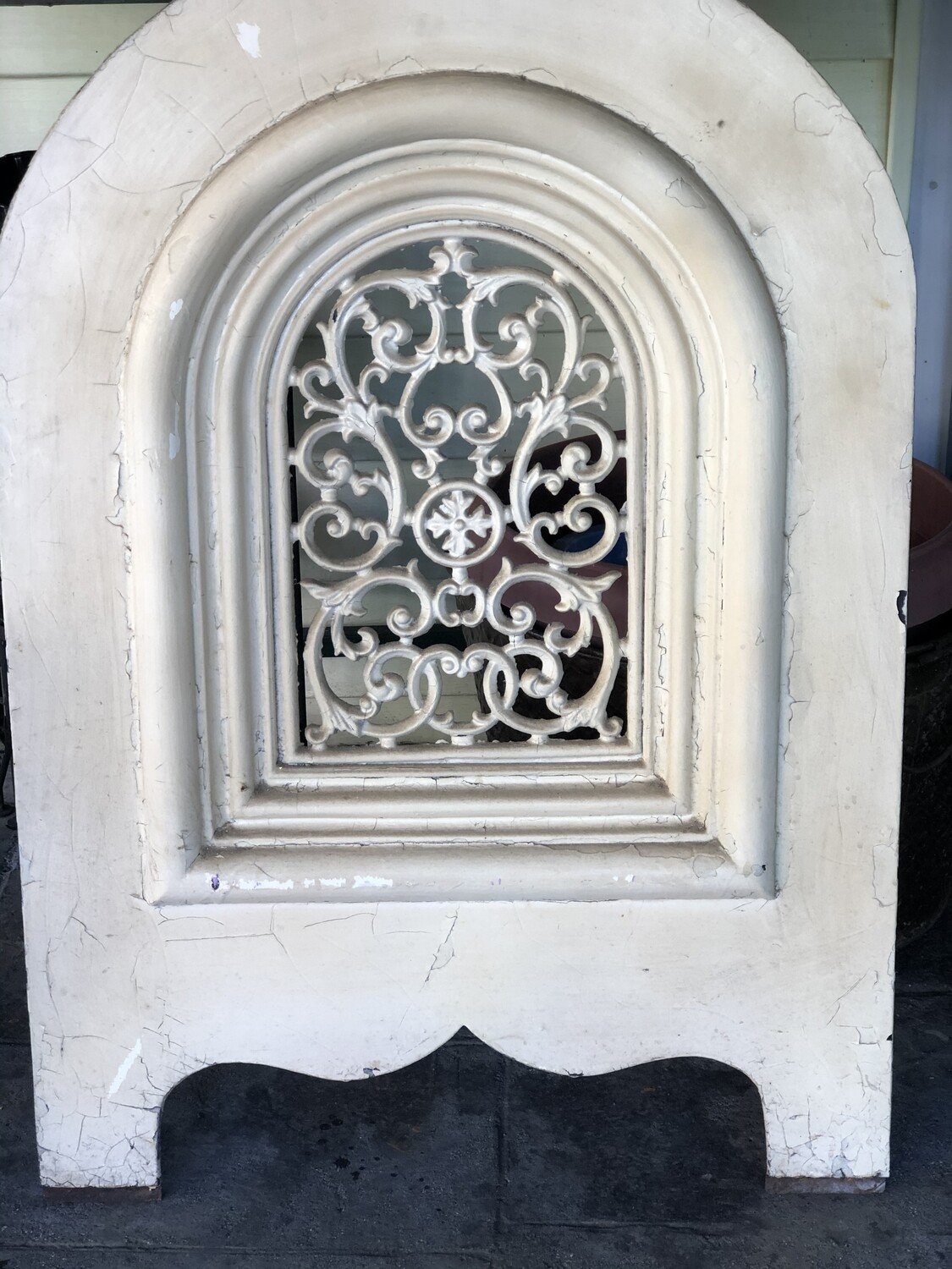 Cast Iron Stove Door Heavy and Ornate