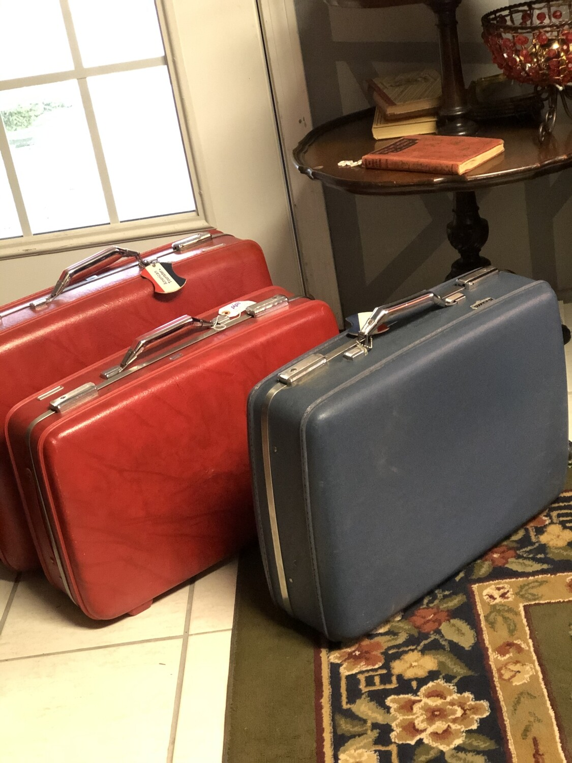 The Traveler - 2 Vintage American Tourister Suitcases