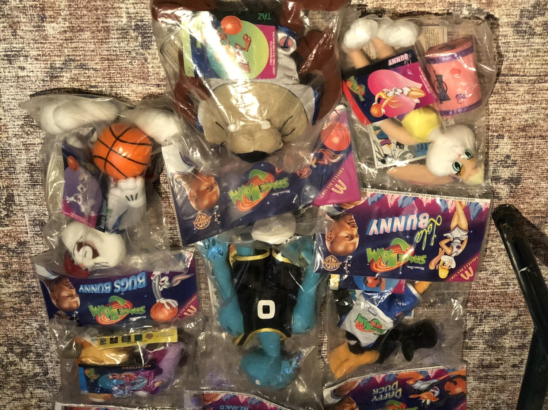 Space Jam Toys Set - NIB Michael Jordan Happy Meal Collection