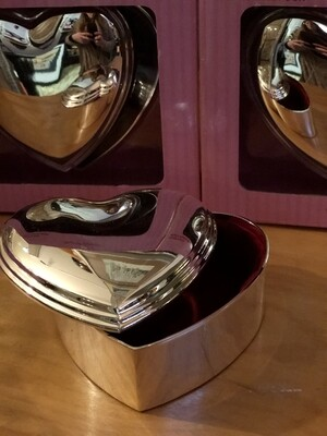 Silver Jewelry Boxes - Set of 3