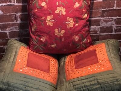 Pillow Trio in Jewel Tones