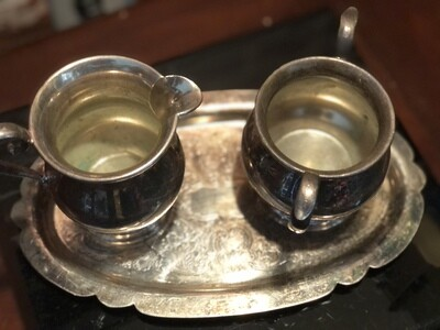 One Lump or Two? Silver Tea Service for one.
