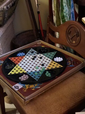 Chinese Checkers in Tin with Marbles in Original Box