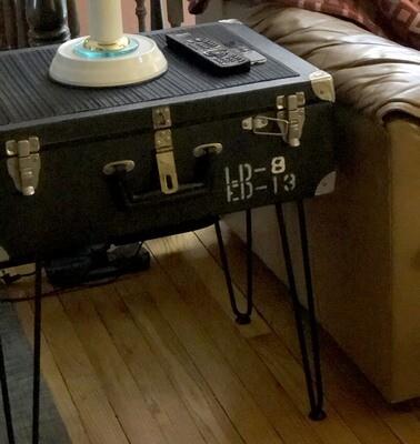 California Ballot Suitcase w Hairpin Legs