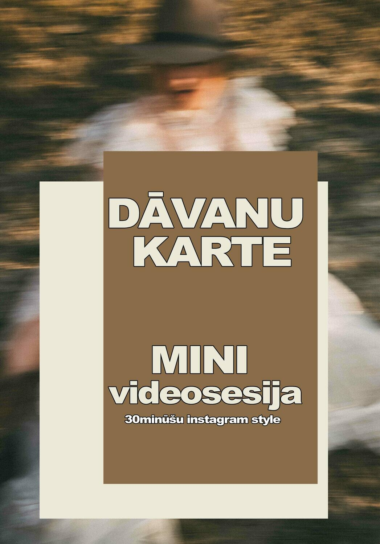Dāvanu karte / MINI videosesija /