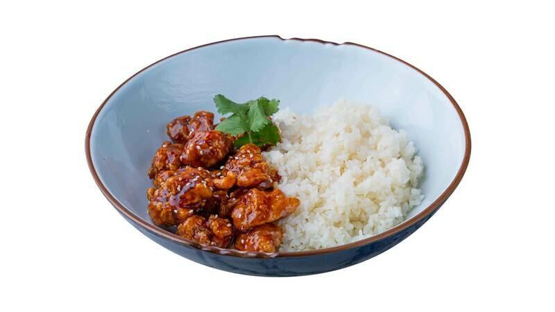 Курица Kowloon с паровым рисом