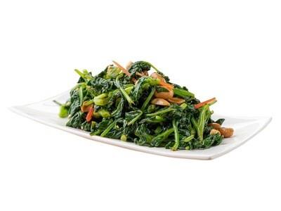 Салат со шпинатом и арахисом