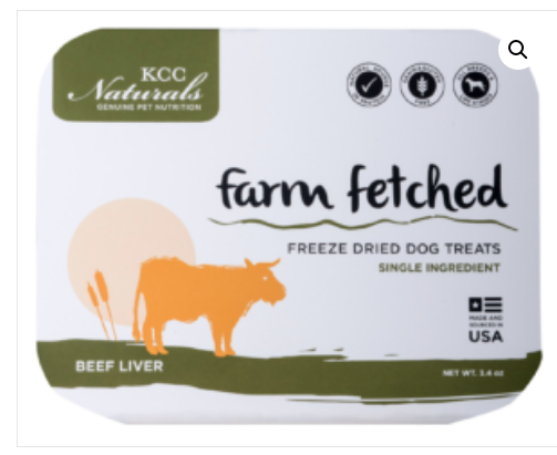 KCC Naturals Freeze Dried Beef Liver is made from one simple ingredient – 100% BEEF LIVER.   3.4 oz