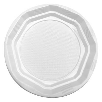 Πιάτα πλαστικά μεγάλα διάφανα, Φ23, 20ΤΜΧ