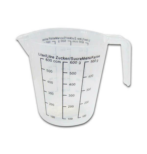 Δοσομετρητής ζαχαροπλαστικής κανάτα πλαστική 0,6λίτρα