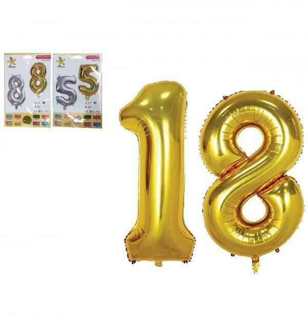 Μπαλόνια γενεθλίων αριθμοί 45εκ