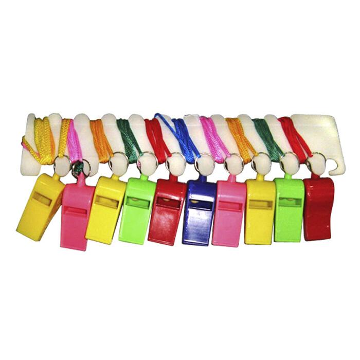 Πλαστική σφυρίχτρα σε διάφορα χρώματα 1τμχ