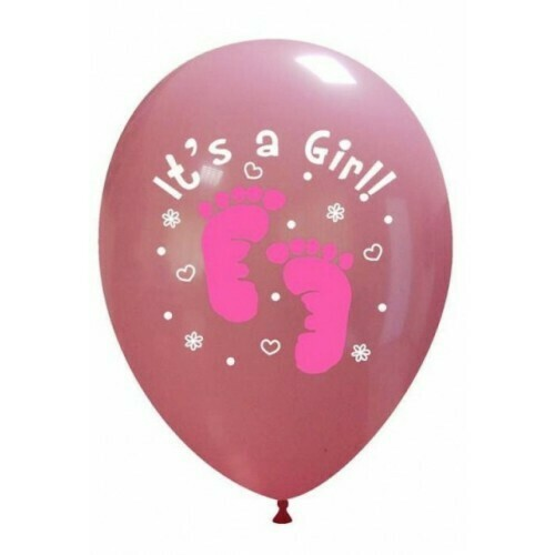 """Μπαλόνια it's a girl 12"""""""