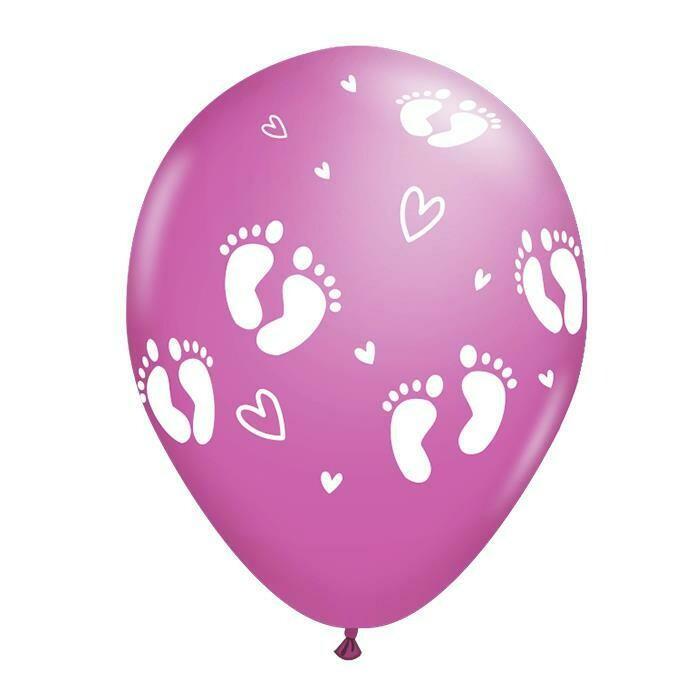 Μπαλόνι ροζ με πατουσάκια