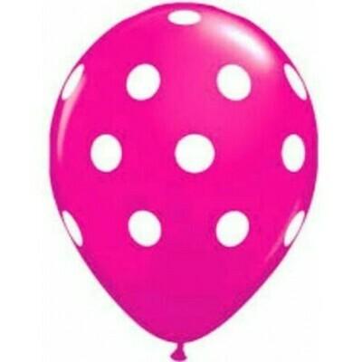 Μπαλόνι πουά φούξια μικρά 5''