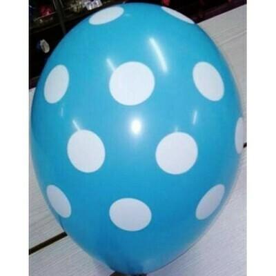 Μπαλόνι πουά μπλε μικρά 5''