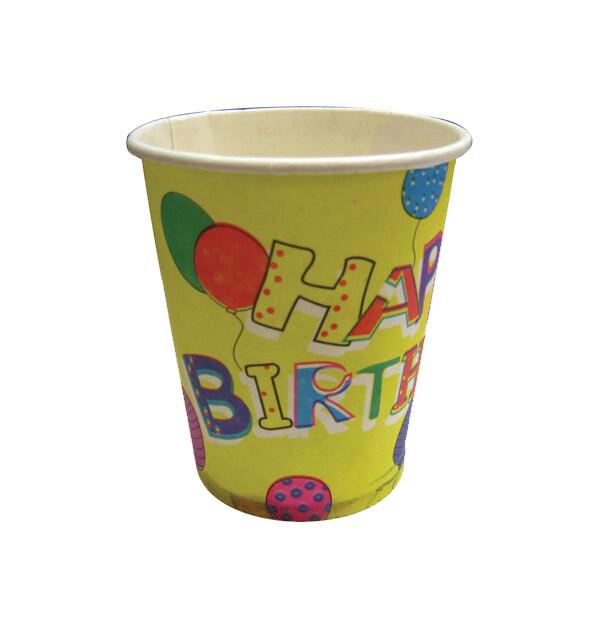 Χάρτινα ποτήρια Happy Birthday 20τμχ