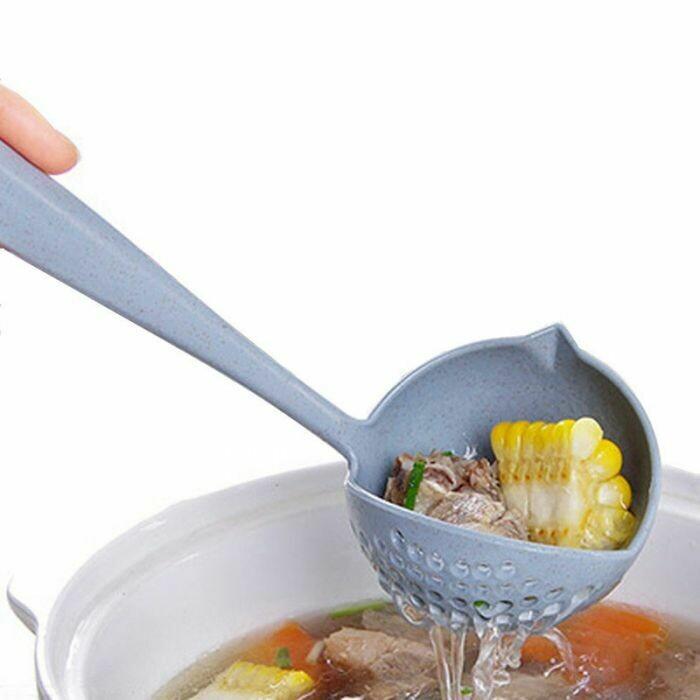Τρυπητή κουτάλα σούπας 2 σε 1