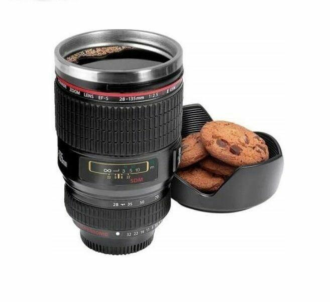 Κούπα σε σχήμα φακού φωτογραφικής μηχανής με καπάκι για σνακ
