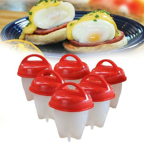 Δοχεία σιλικόνης για παρασκευή αυγών 6τμχ