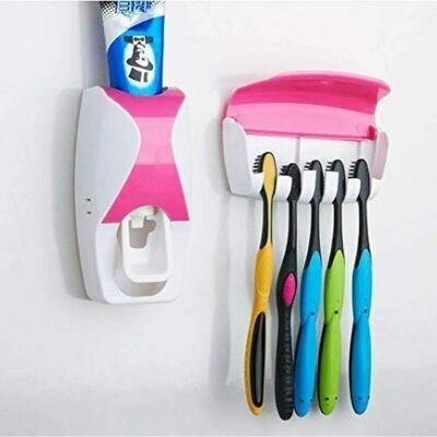 Σετ διανεμητής οδοντόκρεμας και βάση για οδοντόβουρτσες