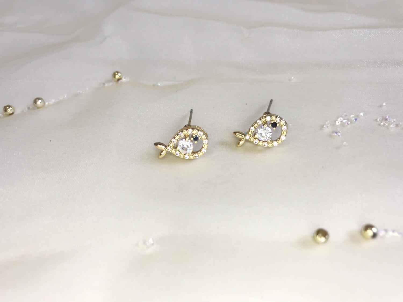 Ανοξείδωτα σκουλαρίκια με στρας