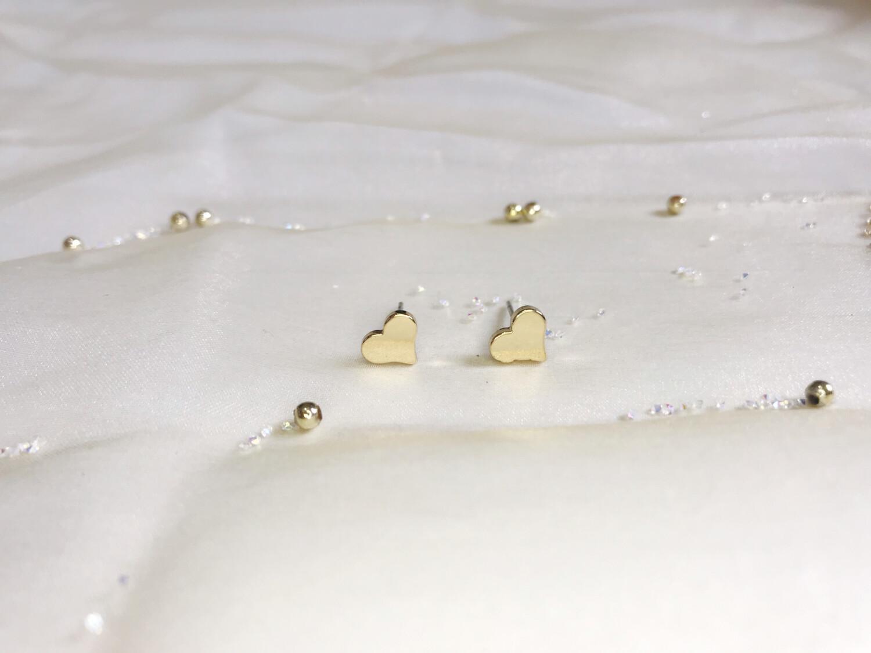 Ανοξείδωτα σκουλαρίκια καρδιά 1 ζευγάρι