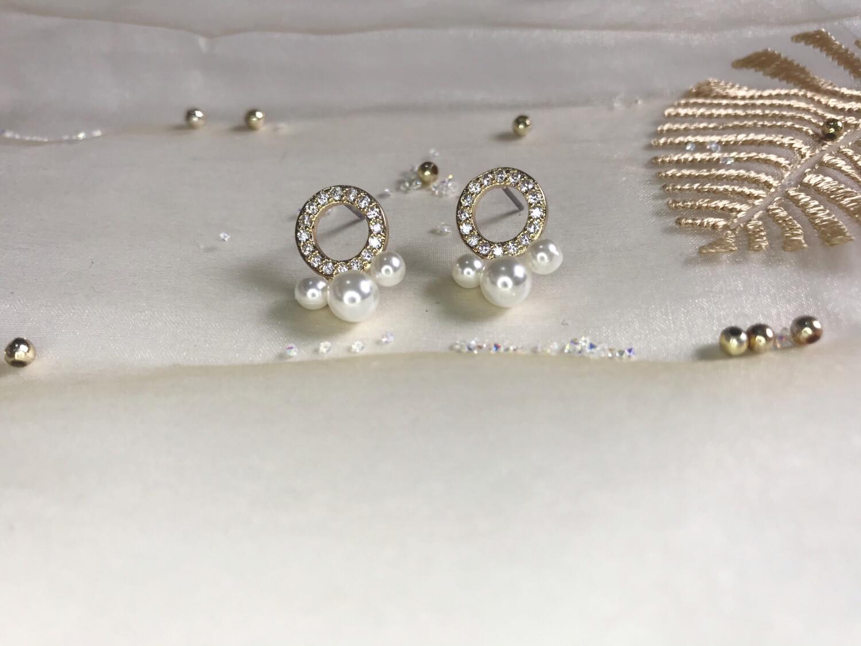 Ανοξείδωτα σκουλαρίκια με πέρλες