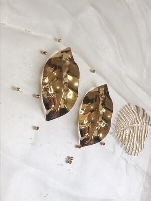 Χρυσά σκουλαρίκια φύλλο