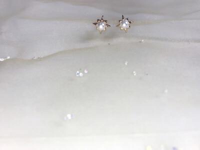Πλαστικά σκουλαρίκια με πέρλα