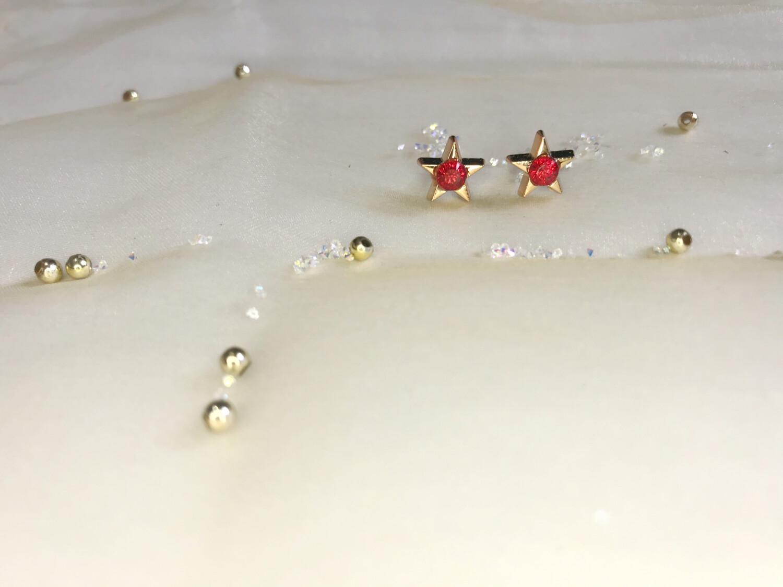 Πλαστικά σκουλαρίκια με στρας