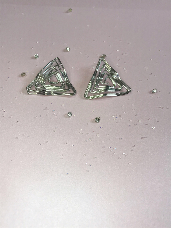 Ανοξείδωτα σκουλαρίκια ασημί