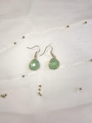 Κρεμαστά σκουλαρίκια με πέτρα