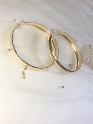 Σκουλαρίκια κρίκοι πλατύ μέταλλο