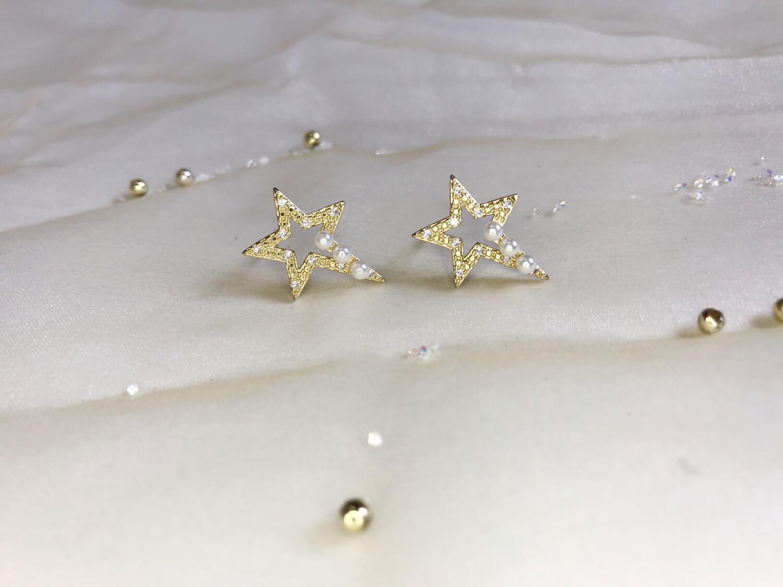 Ανοξείδωτα σκουλαρίκι αστέρι