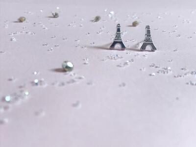 Πλαστικά σκουλαρίκια πύργος του Eiffel