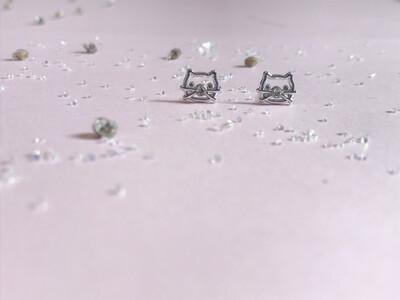 Πλαστικά σκουλαρίκια Hello Kitty