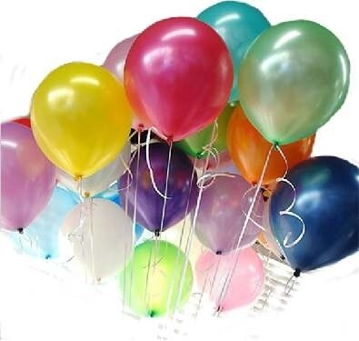 Μπαλόνια μεταλλιζέ 12'' 10τεμάχια