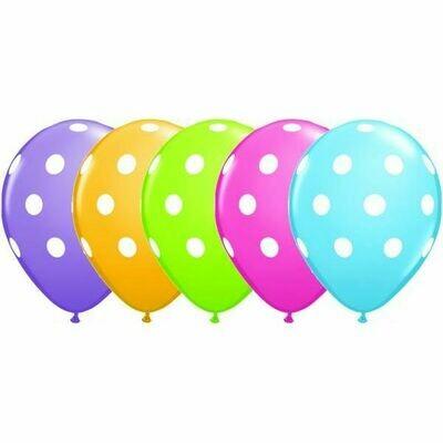 Μπαλόνια πουά 11'' 1τμχ