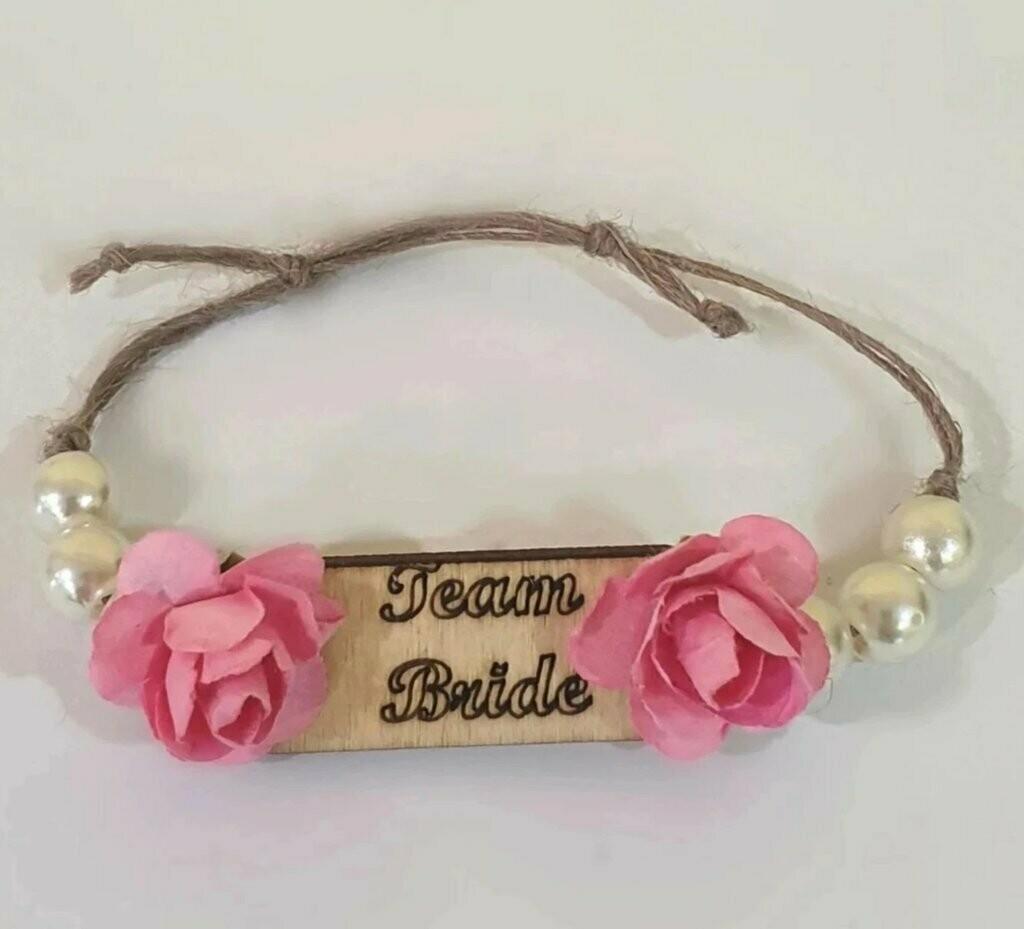 """Βραχιόλι Bachelor """"Team Bride"""""""