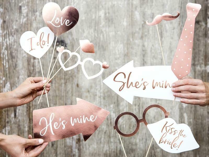 Σετ photo Booth για Γάμο & Bachelor party (12 τεμ)