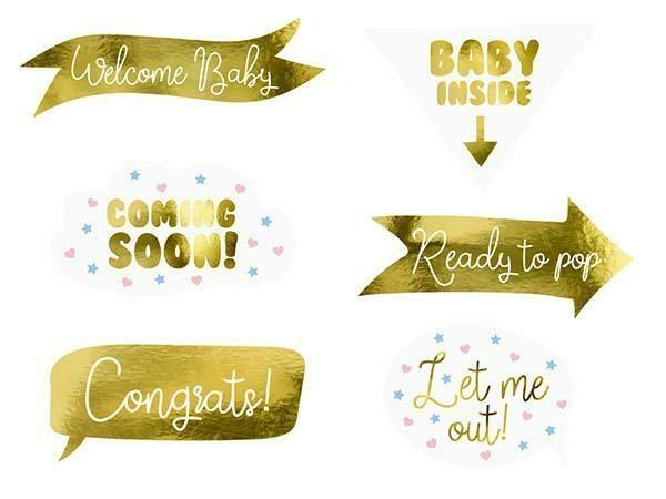 Στικάκια PhotoBooth Baby Shower (6 τμχ)