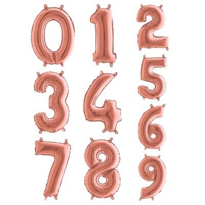 Μπαλόνι 36 εκ Rose Gold Αριθμός