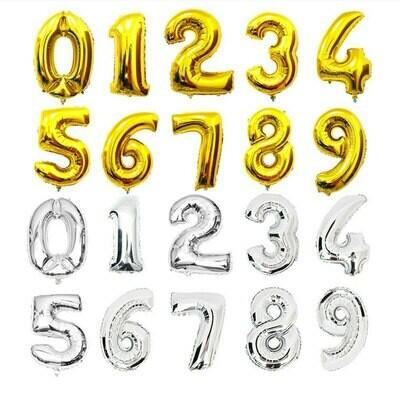 Μπαλόνια αριθμοί foil 40'' ( 1 μέτρο)